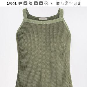 Halter Type Tank-Studded Knit